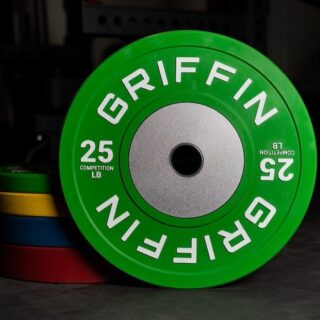 Bumper sets went quick in our restock, but we still have competition bumper plates in 25s, 35s and 55s 👍🏼  To know about future product launches and restocks, sign up for our emails (bottom of our website).  #WeAreGriffin