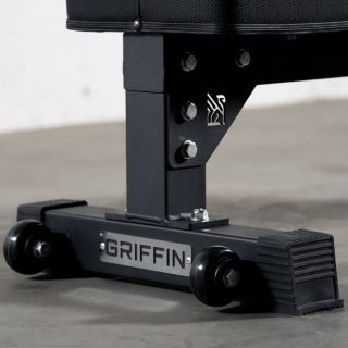 It's all in the details. Our V2 of our Competition Flat Bench has many new improvements to make it better than ever.  - Horizontal handle for ergonomic moving - Frame improvements for even more security - New embellishments with our signature Griffin - A harder pad for more support and better longevity  These are live on our site! Same day nationwide flat rate shipping or local pickup💥  Tag a friend who's been needing one of these!  #WeAreGriffin