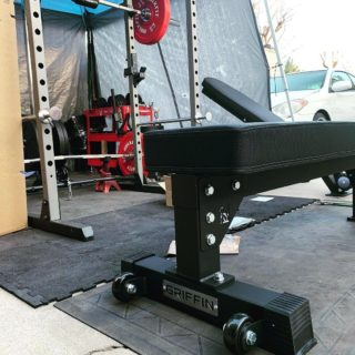"Unboxing & assembling a Griffin competition flat bench is as easy as ever! Less than 15 minutes! P.S. they're still in stock 👀  Thanks for sharing @anthonysimmons2022!  ""@griffinfitnessequipment GRIFFIN COMPETITION FLAT BENCH. . .SOLID very well designed thick supported pad just heavy enough and better wheels than Rep Fitness or Titan Fitness 💪""  #WeAreGriffin"
