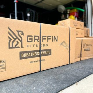 There's nothing quite like a delivery day for your home gym 👀What items are you waiting for? #WeAreGriffin 📷: @asmanyreviewsaspossible