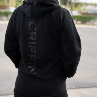 We got lots of requests for hoodies and here they are—with a Griffin twist. The limited batch Griffin stealth hoodie features black detailing on the front and back and runs true to size.  Best part? It's the softest ever & there's free shipping ✔️  Get yours today! They're live on the site under accessories ➡️ apparel.  #WeAreGriffin