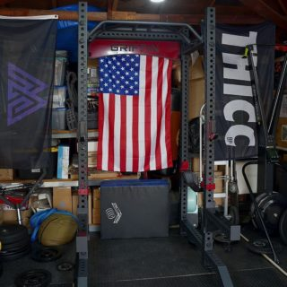 """Thank you @asmanyreviewsaspossible for your review (and awesome photos) of the GR3 rack! Check out his thoughts below ⤵️ """"Finally got around to setting up my @griffinfitnessequipment GR3 power rack. Hoooooo boy, this thing is massive. I'm not gonna lie, I had a few blunders setting it up myself because some of the components are heavy as shit. The total build time was maybe about 30-45 mins solo. You'll need a 36mm socket but the wrenches are included. The build quality and finish is top notch, rivals just about any other brand I've tried. The rack uses 3x3"""" 11ga steel that feels solid as hell. The powdercoat has a very satisfyingly rough texture to it and even though I did drop a few couple pieces setting it up, it didn't even scratch. Every piece is drilled out with 1"""" holes and uprights are numbered throughout. 1"""" hardware seems like such overkill compared to 5/8"""" but I don't know how I could go back now. I purposely tried to rock this thing kipping and couldn't budge it - more than enough rack than I'll ever need. The rack comes with logo plate, 30"""" crossmembers, sandwich j-cups, safety straps and the multigrip bar. All of the attachments are overbuilt and top quality but the overall price is still lower than other brands. You can option the spotter arms, stabilizers and landmine if you want. The standard price is only $995!"""" #WeAreGriffin"""