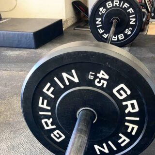 "The quote of the year: ""great things never come from comfort zones."" - Ben Francia  Get after it—greatness awaits 💪🏼  📷: @r.place in the Griffin Facebook group  Bumper plate restock ETA update: late February/early March  #WeAreGriffin"